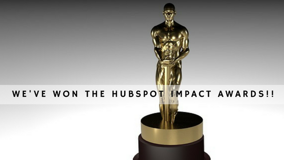 The HubSpot Impact Awards 2017 – we've won!